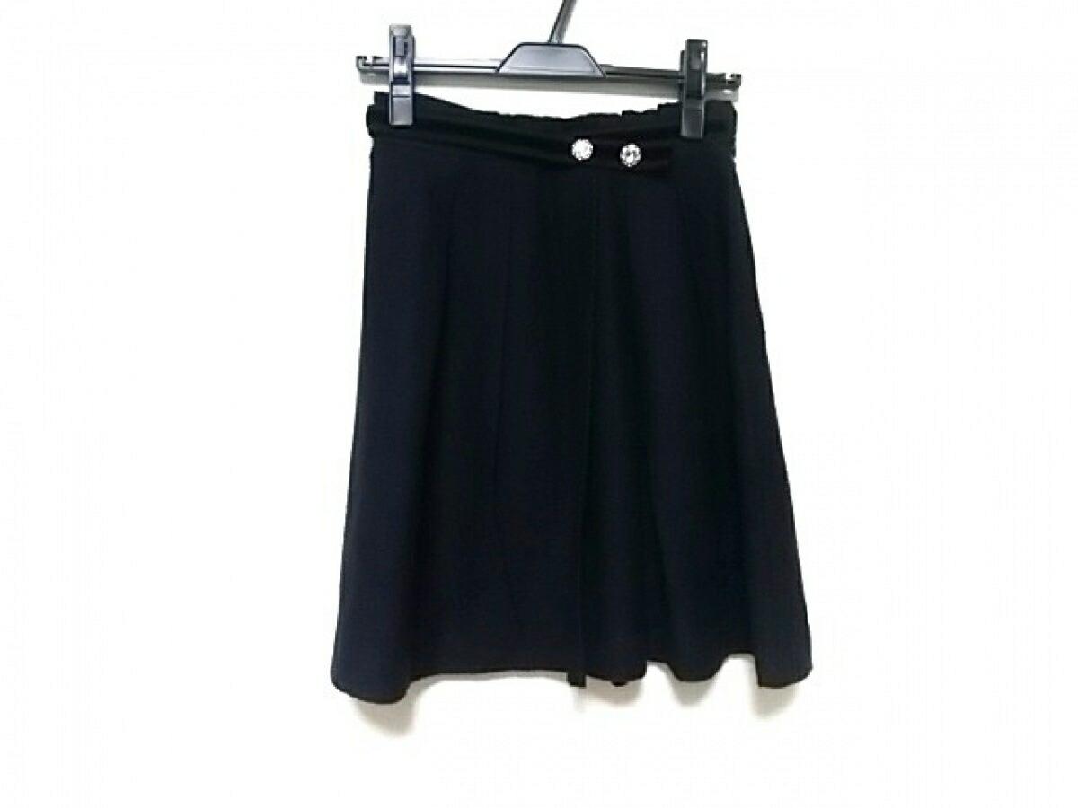 【新着】Apuweiser-riche(アプワイザーリッシェ) スカート サイズ2 M レディース ダークネイビー×黒【20190618】【中古】