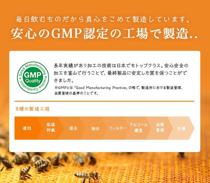 安心のGMP工場で製造しました