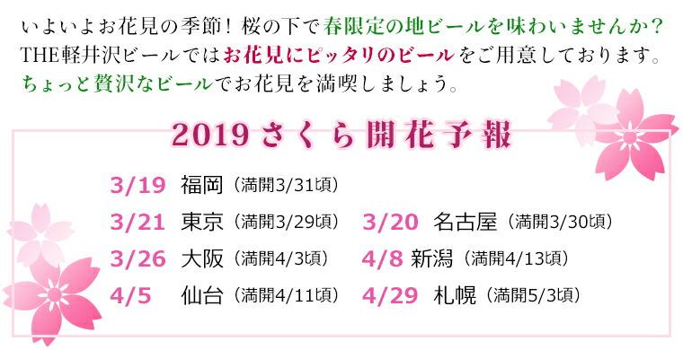 お花見2019 桜 開花予報