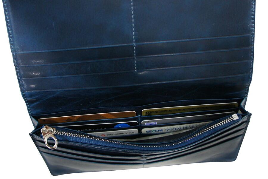 アニアリ・aniary 財布 長財布【送料無料】アイディアルレザー  薄マチ被せロングウォレット 11-20007