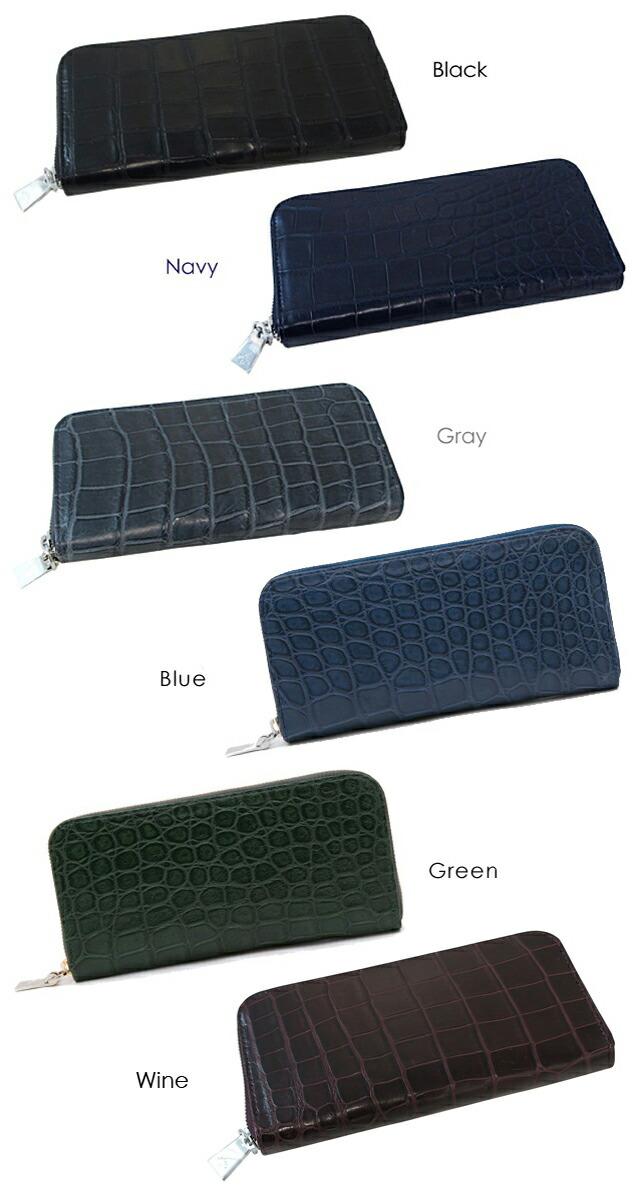 c641f5666f07 ワニ革の中でも最高級品種である「スモールクロコ(イリエワニ)」を採用した高級感あふれる長財布。 ジッパーや内部レザー部分のさりげないアニアリロゴの刻印  ...