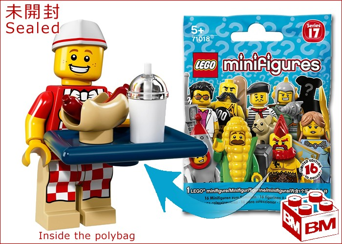LEGO Minifigures Series 17 71018 Hot Dog Man New