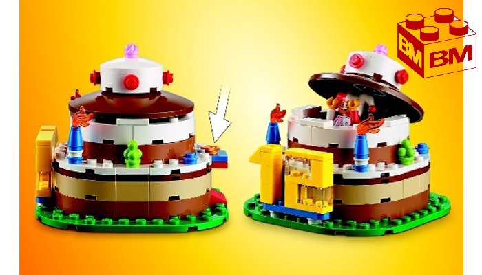 Lego Birthday Cake Table Decoration Set 120 Pieces 40153