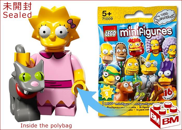 Zabawki SEALED LEGO SERIES 2 SIMPSONS ; LISA WITH SNOWBALL II Zabawki konstrukcyjne