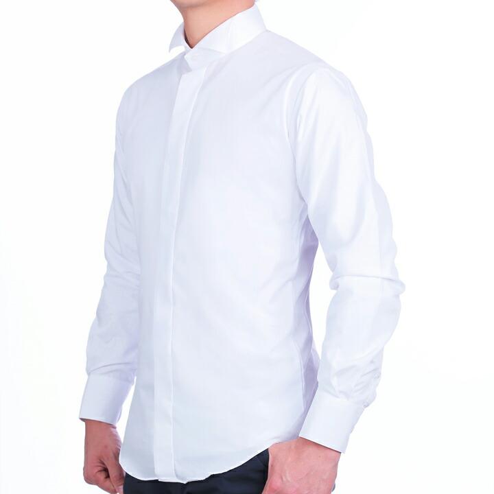 ウイングカラーシャツ着用例