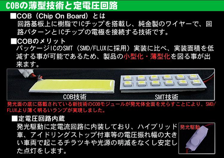マークエックス 120系/130系 全面発光LEDルームランプ COB 薄型技術 定電圧回路