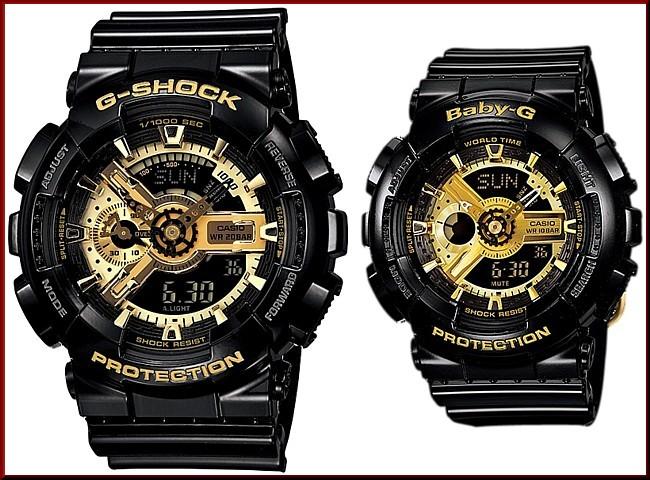 An Analog Digital Watch Casio G Shock Baby Gblack Gold Series Palocci Overseas Model Ga 110gb 1 A Ba 110 1a