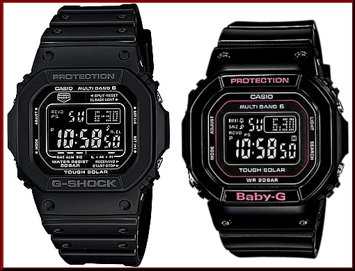 official photos 195c1 2946b GW-M5610-1BJF/BGD-5000-1JF CASIO/G-SHOCK/Baby-G PA watch solar radio watch  black (Japanese regular Edition)