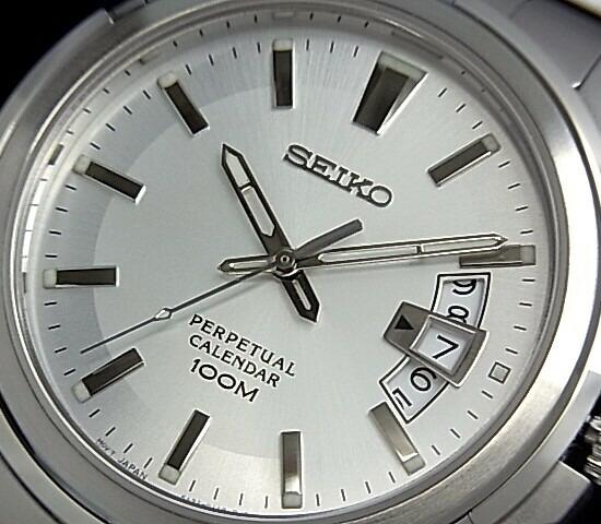 bright rakuten global market seiko perpetual calendar men watch silver clockface metal belt