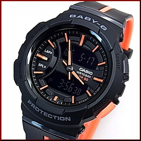 d684ceae51 CASIO/Baby-GBGA-240 - for runnin - Lady's watch black / orange (domestic  regular article) BGA-240L-1AJF