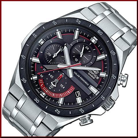 f4a4b9c65 BRIGHT: CASIO/EDIFICE solar watch chronograph men black bezel black ...