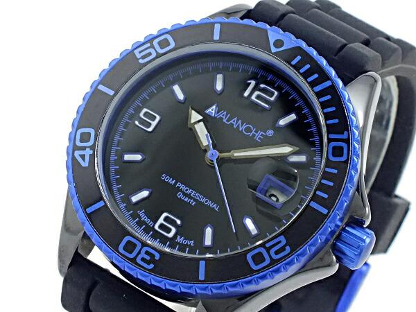 アバランチ AVALANCHE クオーツ 腕時計 AV-1017CER-BU ブルー