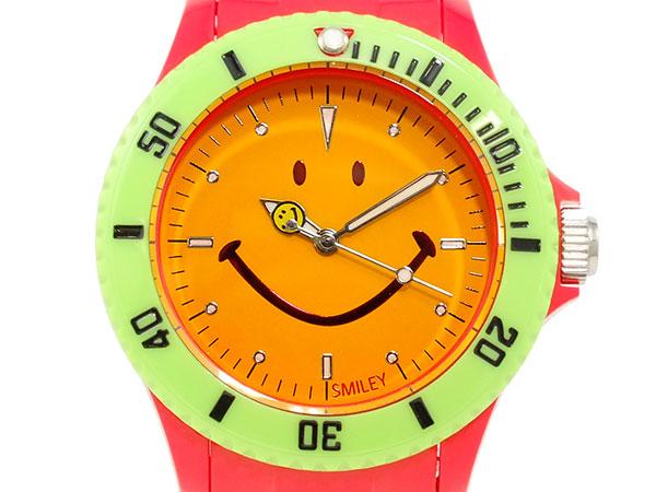 スマイリー SMILEY 腕時計 レディース/キッズ WGHB-CS-RV01 レッド×オレンジ