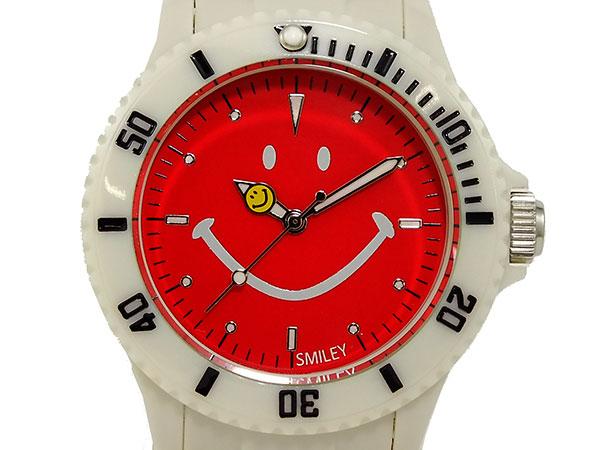 スマイリー SMILEY 腕時計 レディース/キッズ WGHB-OC-WV01 ライトベージュ×レッド