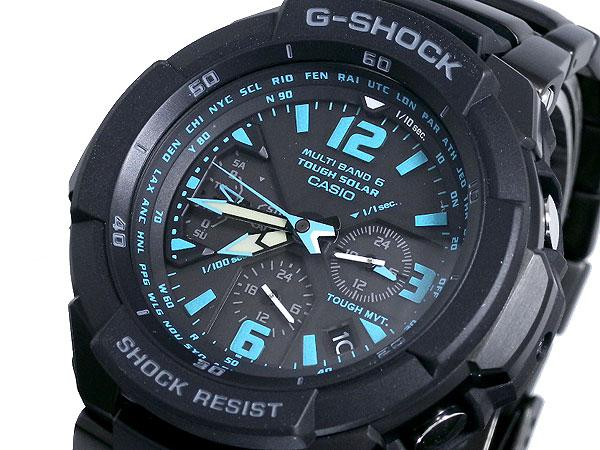 カシオ CASIO Gショック G-SHOCK スカイコックピット 電波ソーラー 腕時計 GW3000BD-1A 文字盤、全体