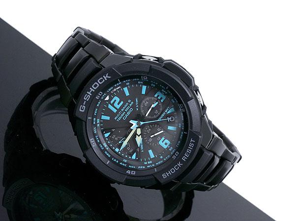 カシオ CASIO Gショック G-SHOCK スカイコックピット 電波ソーラー 腕時計 GW3000BD-1A 着用イメージ
