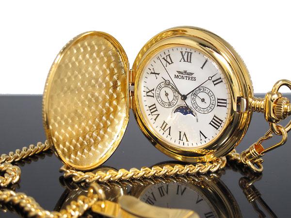 モントレス MONTRES 懐中時計 柄有り 923S-GD-R