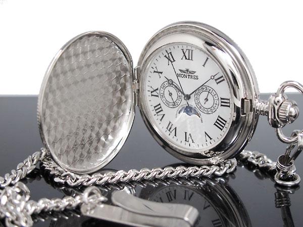 モントレス MONTRES 懐中時計 柄有り 923S-SV-R