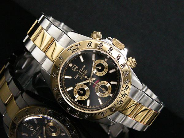 ダンクラーク DONCLARK クロノグラフ 腕時計 DM-2051-05GS 着用イメージ