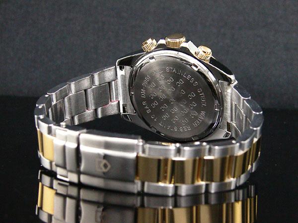 ダンクラーク DONCLARK クロノグラフ 腕時計 DM-2051-05GS ベルト バックル 背面
