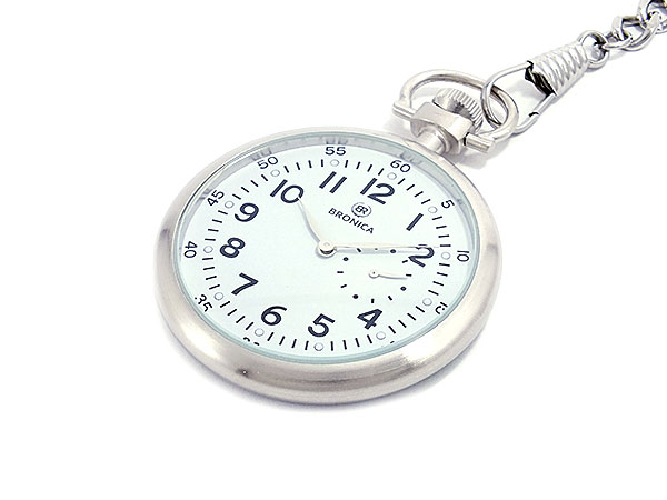 ブロニカ BRONICA 懐中時計 BR-816M-WH ホワイト ウォッチ 時計 うでどけい