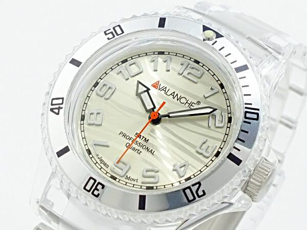 アバランチ AVALANCHE クオーツ 腕時計 AV-101P-CLSR-40 ホワイト