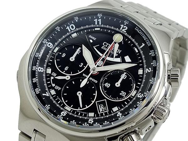 シチズン CITIZEN エコドライブ クロノグラフ 腕時計 AV0037-52E 文字盤、全体