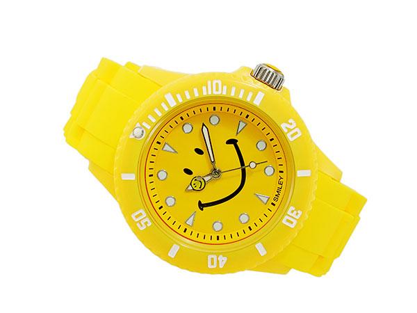 スマイリー SMILEY 腕時計 レディース/キッズ WC-HBSIL-YL 着用イメージ