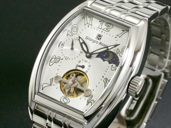 ジョルジオ ロッシ GIORGIO ROSSI 手巻き サン&ムーン 腕時計 GR-0008-SI 文字盤、全体
