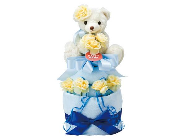 ハッピーベビー Happy Baby おむつケーキ2段 20135000B 6041-077 ブルー