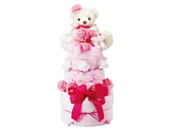 ハッピーベビー Happy Baby おむつケーキ3段 201310000P 6041-095 ピンク