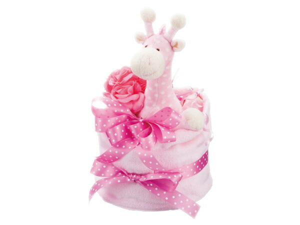 ミンクプラッシュ おむつケーキ 1段 M-1-P 6042-021 ピンク