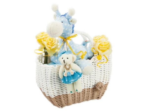 ミンクプラッシュ おむつケーキ M-2-B 6042-049 ブルー