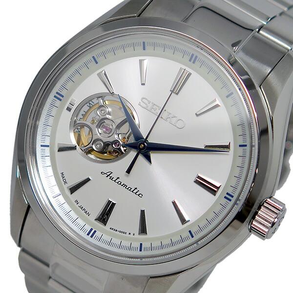 セイコー SEIKO プレサージュ 自動巻き メンズ 腕時計 SSA255J1 ホワイト