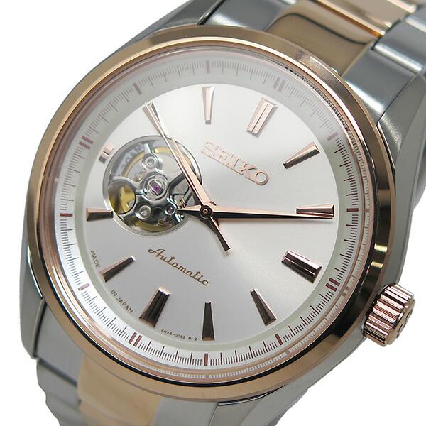 セイコー SEIKO プレサージュ 自動巻き メンズ 腕時計 SSA260J1 ホワイト