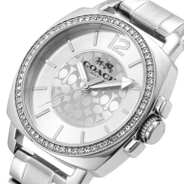 【送料無料】コーチ ボーイフレンド ミニ クリスタル レディース 腕時計 CO14502147 シルバー