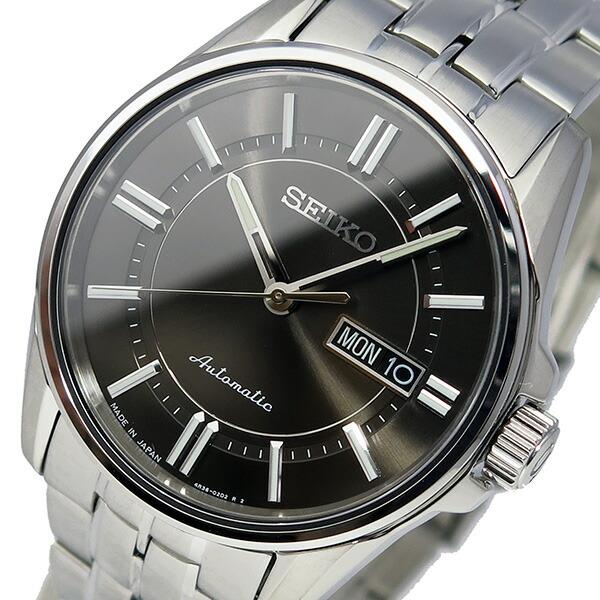 セイコー SEIKO プレサージュ 自動巻き メンズ 腕時計 SRP401J1 シルバー