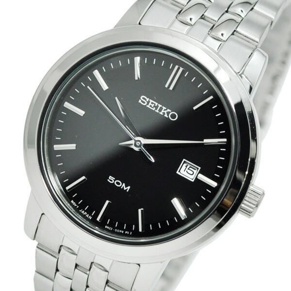 セイコー SEIKO クオーツ レディース 腕時計 SUR827P1 ブラック