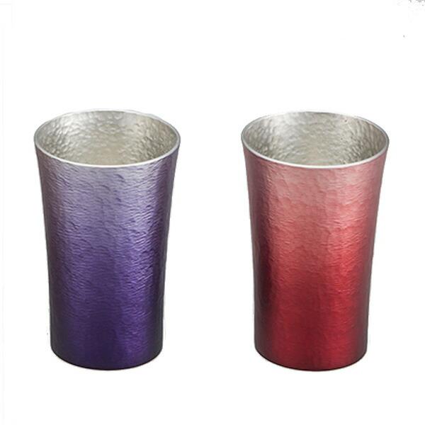 大阪錫器製 錫製タンブラー MIYABI 200ml 2セット 火影&森羅 16-1-1-2P