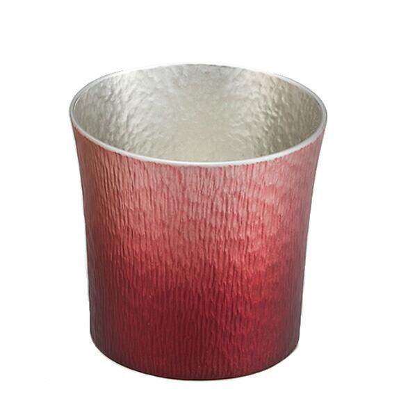 大阪錫器製 錫製タンブラー MIYABI ファンネル 310ml 火影 桐箱入り 24-2-1-RD