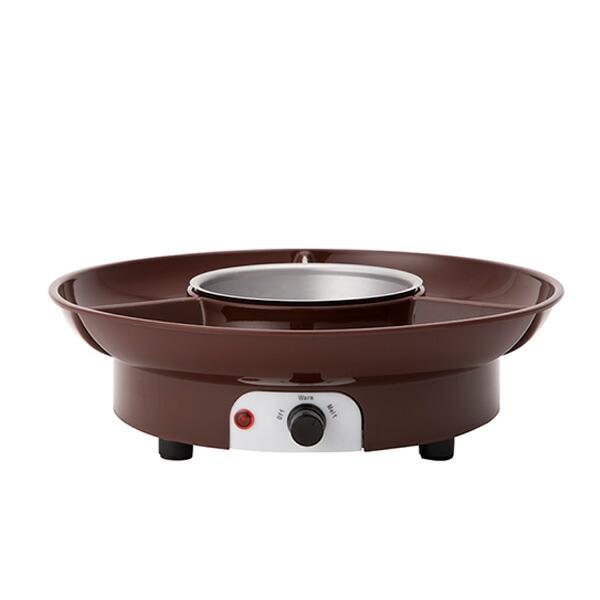 チョコレートフォンデュメーカー Chocolate fondue maker CLV-340 ブラウン