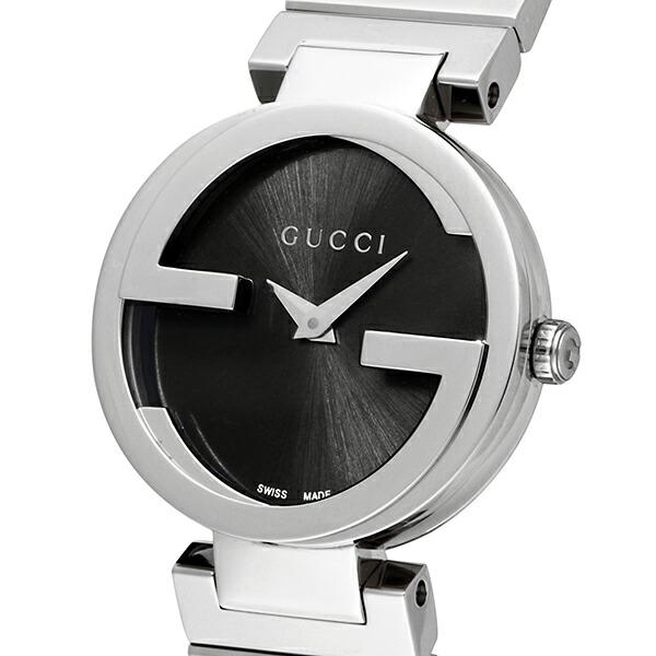 グッチ GUCCI インターロッキング クオーツ レディース 腕時計 YA133502 ブラック