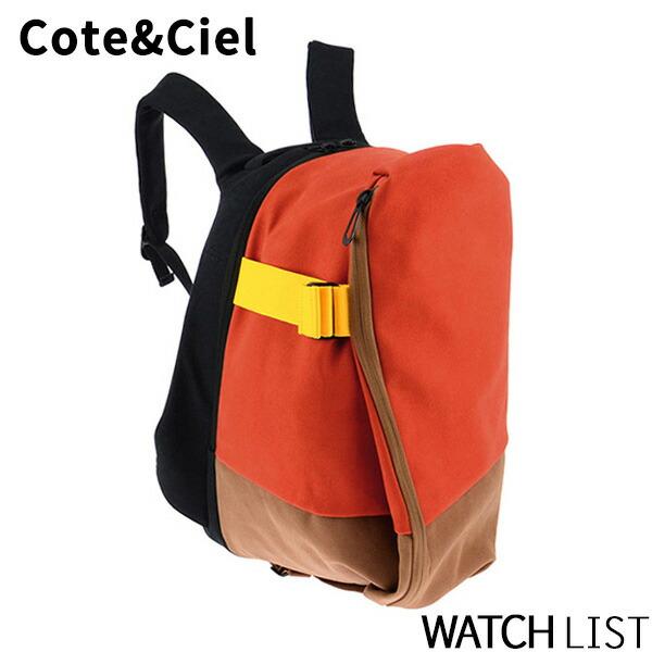 コートエシエル COTE&CIEL メンズ バックパック/リュック 28024-BK_OG ブラック/オレンジ