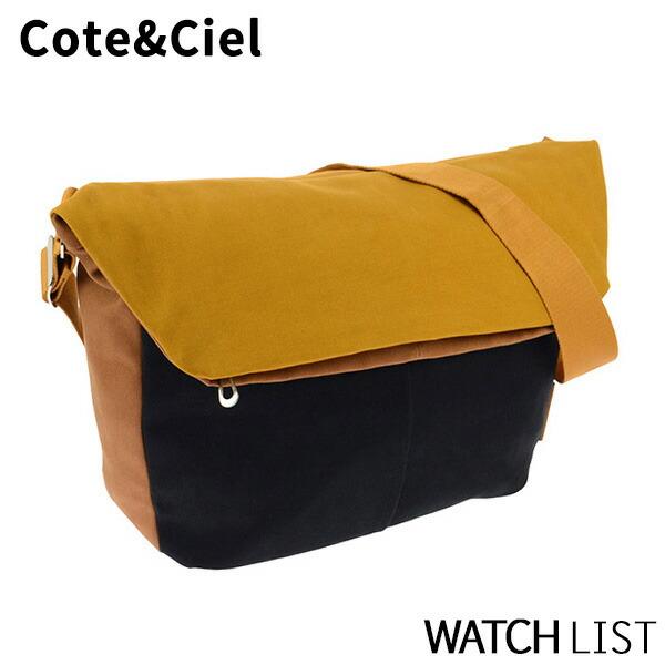 【送料無料】コートエシエル COTE&CIEL メンズ ショルダーバッグ 28026-MA_BL マスタード/ブルー