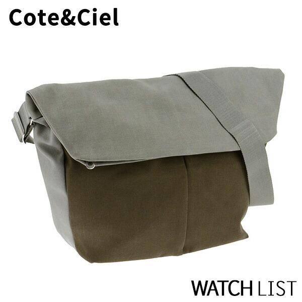 【送料無料】コートエシエル COTE&CIEL メンズ ショルダーバッグ 28028-OL_GY オリーブ/グレー