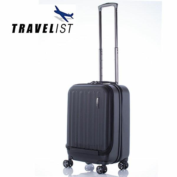 【送料無料】トラベリスト TRAVELIST スーツケース 撥水 34L 76-20081 ブラック (代引き不可)
