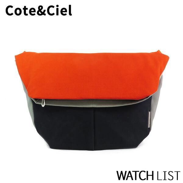 コートエシエル COTE&CIEL メンズ ショルダーバッグ 28027-ORBL オレンジ/ネイビー