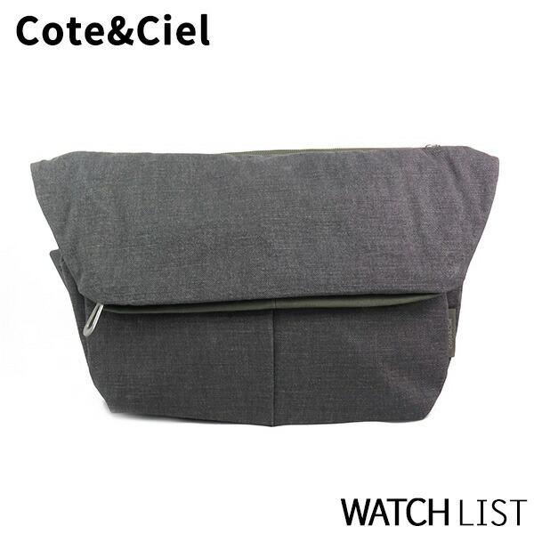 コートエシエル COTE&CIEL メンズ ショルダーバッグ 28078-ICE グレー/カーキ