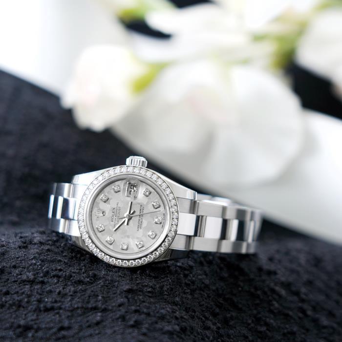 ロレックス デイトジャスト 179384G シルバー ゴールドクリスタル ROLEX 新品 レディース 腕時計 送料無料