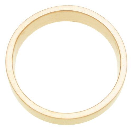ペアリング・平打ちリング・5mm幅・K18ゴールド